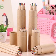 12 Pcs Colored Pencils Packed In Cute Cartoon Pencils Case Art Color Drawing  apices colores csqb024 24 in 1 colored drawing pencils set