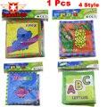 4 estilo de livro atividade livro tranquila idioma inglês livros de pano do bebê de aprendizagem educação toys 0 ~ 12 meses do bebê juguetes bebe