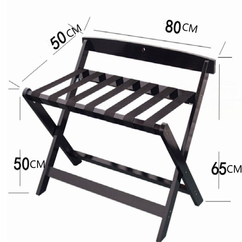 Отель деревянный багажный держатель багажный кронштейн багажная стойка Складная - Цвет: black