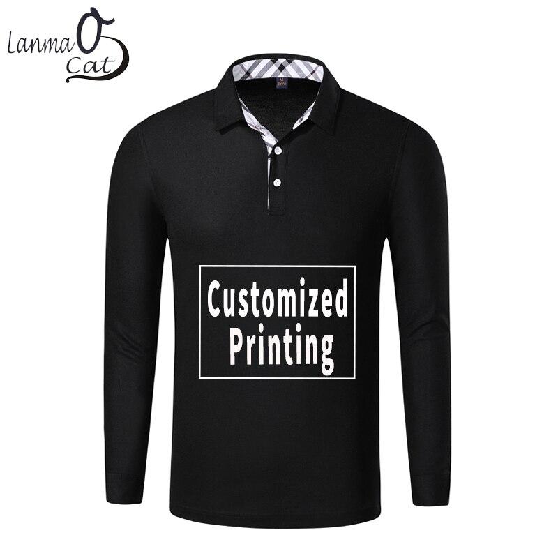 Lanmaocat à manches longues hommes chemises conception personnalisée printemps automne à manches longues vêtements pull Slim Fit haut de grande taille livraison gratuite