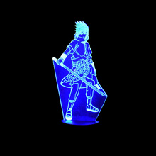 3D LED Lamp Sasuke