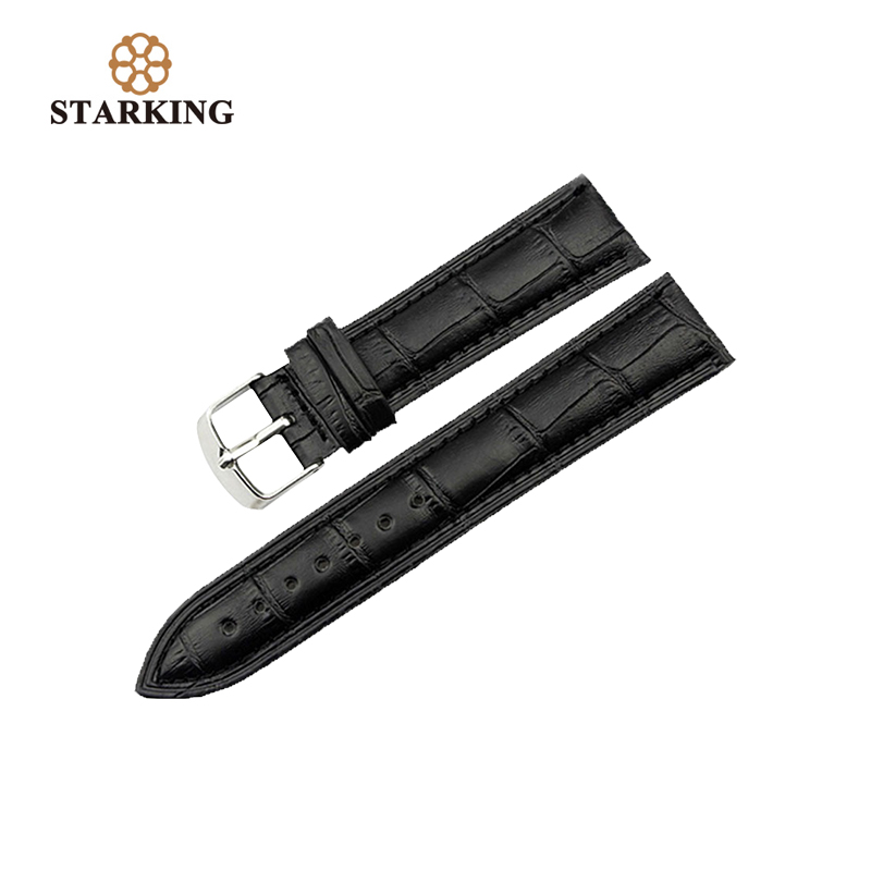Black Leather Band 20mm