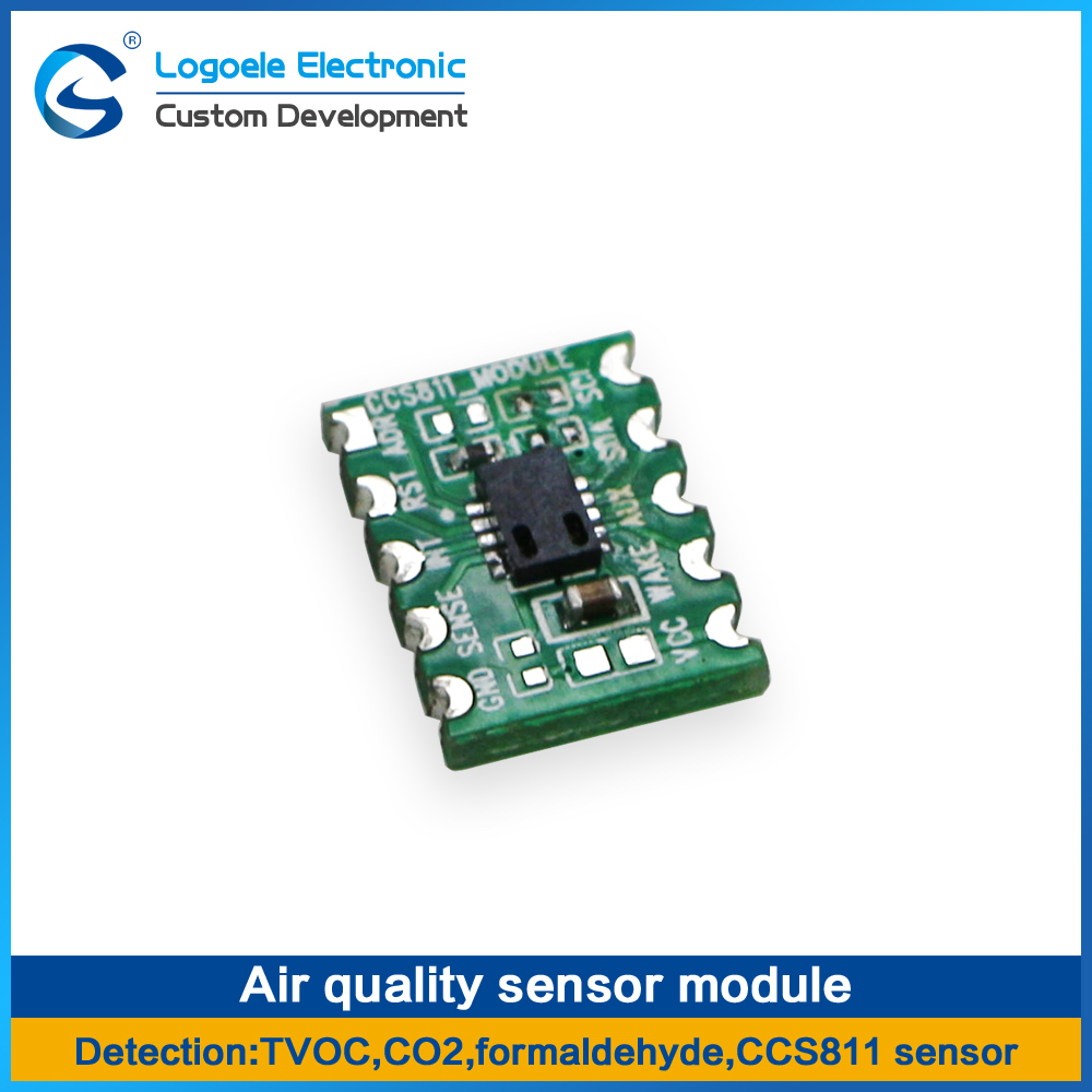 High quality Air quality monitoring sensor module CO2 TVOC formaldehyde Three in one detection CCS811 yec ccs pcu