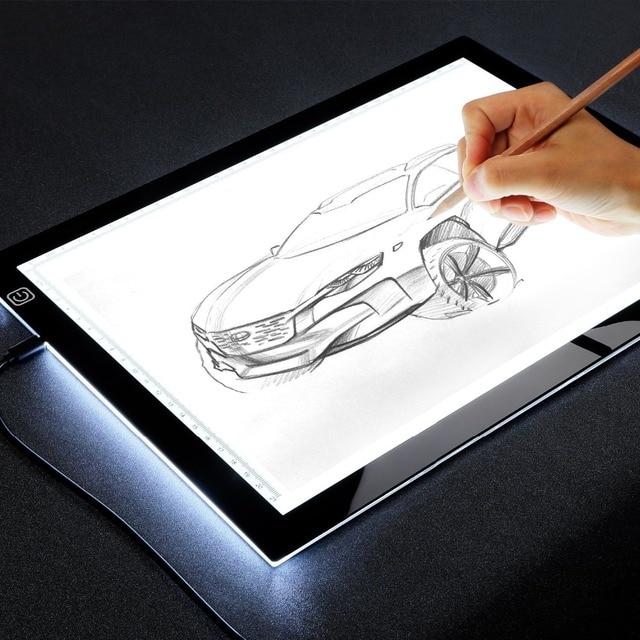 A4 Led Light Drawing Board Tracer Calibration Led Art Craft Led