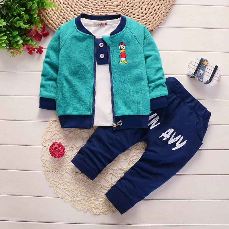 BibiCola baby boys clothes set spring sport suits infant children clothes set for toddler boy kids tracksuit 3pcs boys clothing