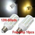 10PCS/LOT Dropship E27 15W 5050 LED Corn Light 60leds 5050smd Bulb Lamp Lighting 220V warranty 3years CE ROHS -- free shipping