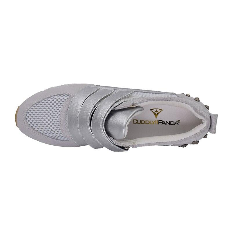 Marche Femmes Mujer Confortable En Zapatos Cuddlyiipanda Rivets Automne Casual Et Gris Crochet Cuir Chaussures Printemps De Véritable Boucle UFF4q7ad