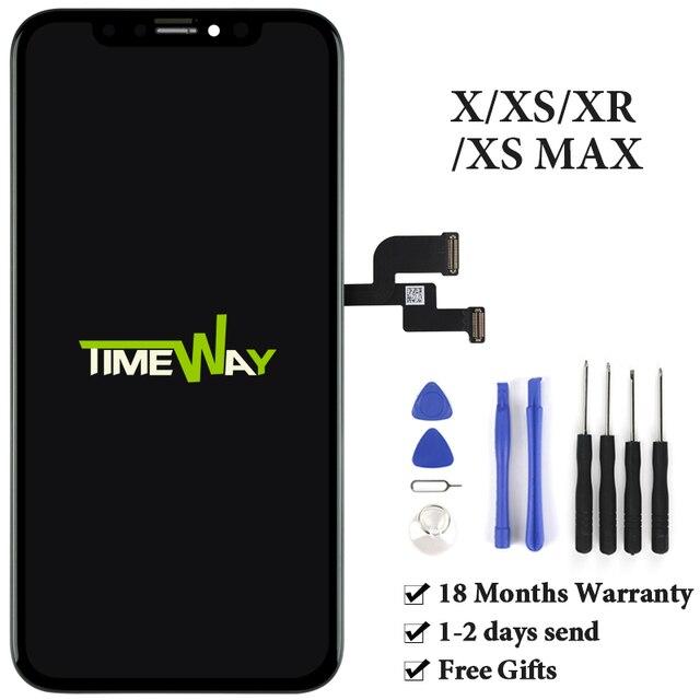 IPhone X XS Max XR için LCD ekran Tianma AMOLED OEM iPhone X için Digitizer ile ekran meclisi
