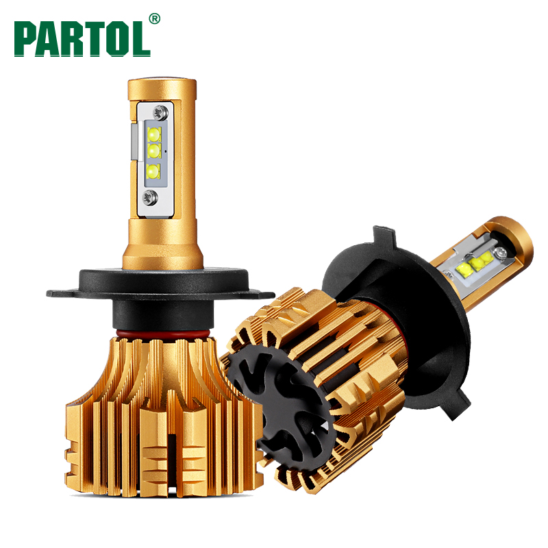 Partol S6 H4 H7 H11 9005 9006 H13 Car LED Headlight Bulbs 70W 7000LM CREE Chips Automobile Headlamp Front Lights 6500K 12V 24V