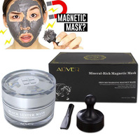HOT Mineral Rich Magnetic Face Mask Pore Cleansing Removes Skin Impurities Magnetic Face Facial Mask Wholesale