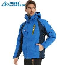 Новая высококачественная Водонепроницаемая Мужская лыжная куртка, куртка для походов или кемпинга, зимняя куртка для мужчин, зимнее термопальто