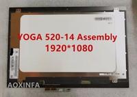 New Original For Lenovo YOGA 520 14 YOGA 520 14 Screen Assembly NV140FHM N49 1920 1080