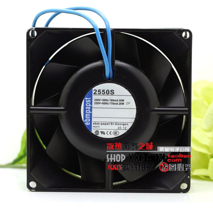 PAPST EBMPAPST 2550S 28W 11350 220V 11.3CM metal high temperature fan