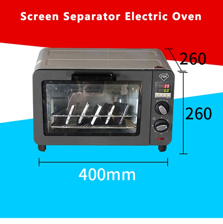 Free shipping TBK 230 mini electric blast screen disassemble oven Machine for computer pad iPhone repair LCD screen drying box