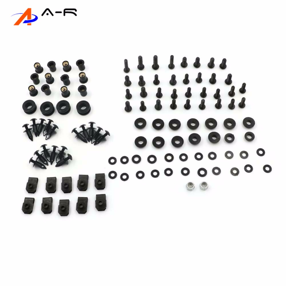 Complete Body Fairing Bolts Nuts Fastener Clips Screws