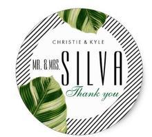 1.5inch Tropical Palm Tree Beach Wedding Favor Sticker