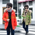 Boys Winter Jacket Hooded Down coat Fur Collar Overcoat Cotton Coats Snowsuit Teenages Outerwear SYHB120903