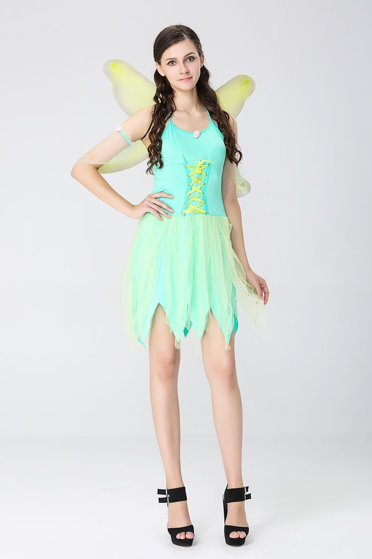 halloween costumes adult women the wizard of oz green forest woodland elf fairy costume tinkerbell garden fairy cosplay dress in movie tv costumes from