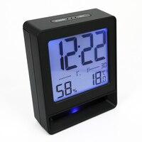 Temperatura i Wilgotność Budzik Drzemki Kalendarz Pulpitu Charakter Sypialnia Elektroniczny Cyfrowy Zegar Wyciszenia