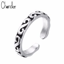 Chandler Silver silver Old Totem Rings For Women Slimming Midi Finger Toe Anillos Anel Thailand Silver Jewelry(China)