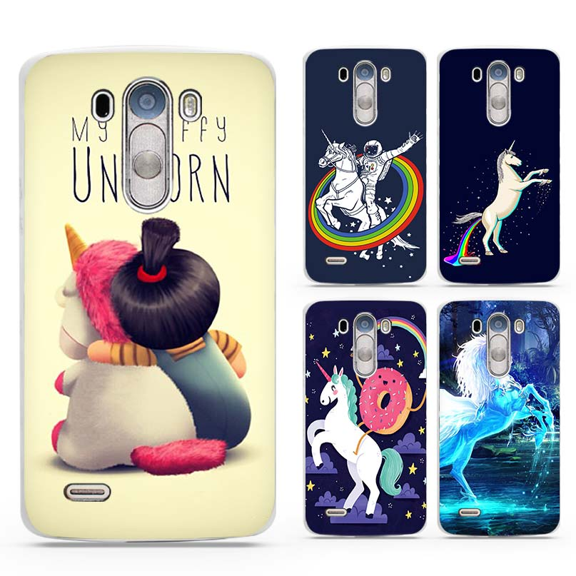 My Unicorn Hard White Plastic Phone Cases Cover Shell Coque for Cell for LG  G3 G4 51c150e25361