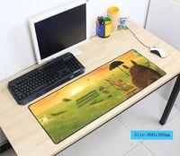 Totoro mauspad 80x30 cm pad maus notbook computer mousepad Halloween Geschenk gaming padmouse gamer zu tastatur maus matten
