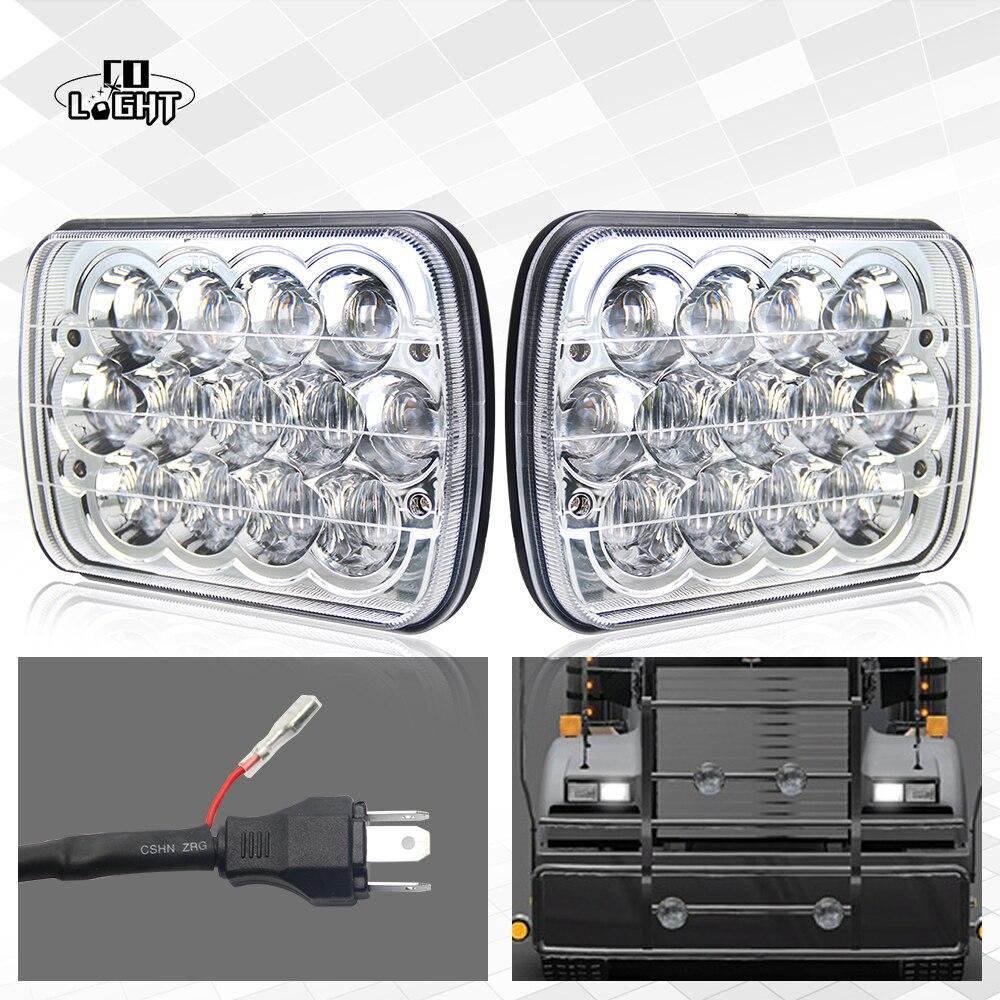 CO LIGHT HEADLIGHT 39W 7x6 INCH H6014 H6052 H6054 DIAMOND SEALED BEAM LED WORK LIGHT HI