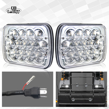 "CO LIGHT 5×7 Headlight 39W 7X6 Inch 5D Lens Diamond Sealed Led Headlights High Low Beam Built-in Light 7X6"" for Ford"