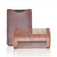 Новый настоящий Сандал деревянная расческа Антистатическая Расческа для бороды щетка для усов щетка карманный гребень деревянный волос с