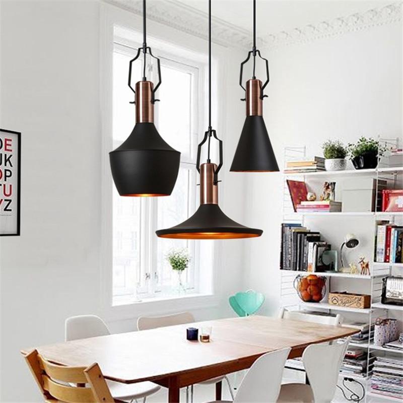 Industrial Vintage Pendant Light LED Aluminum HangLamp Edison Nordic Lamp RH Dining Room Lights Antique Deco Home Lighting