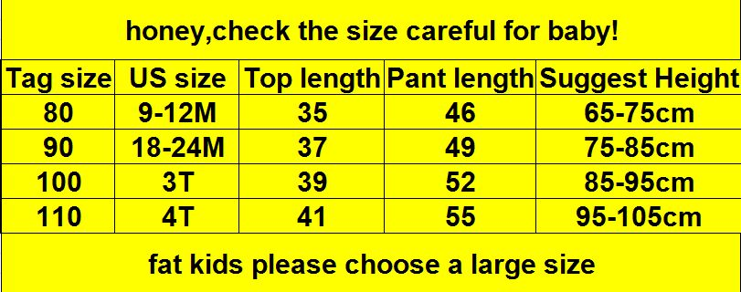 0-4 year High quality boy girl clothing set 19 new fashion active patchwor kid suit children baby clothing Hoodies+pant 1