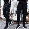 2019 NEW Streetwear Ribbons Casual SweatPants Black Slim Mens Joggers Pants Side-pockets Cotton Camouflage Male Trouser 7