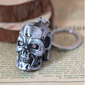 Movie The Terminator Metal 3D Skull Keychain For Male Best Friends Chaveiro Key Ring Porta Porte Clef Anillas Llavero
