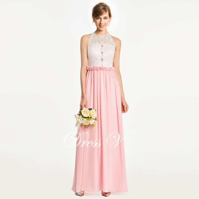 Online Shop Dressv dark pearl pink a line bridesmaid dress zipper-up ...