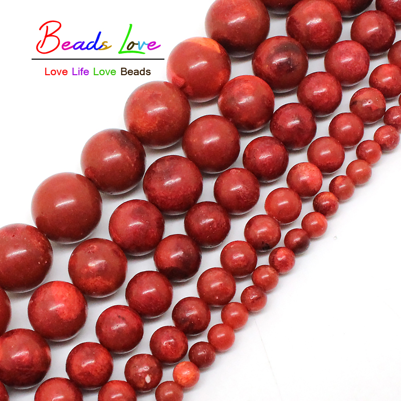 Natural Red Coral Beads 4/6/8/10/12/14/16/18mm pick size 15inche/strand Fashion Jewelry Beads For Jewelry Making (F00577)
