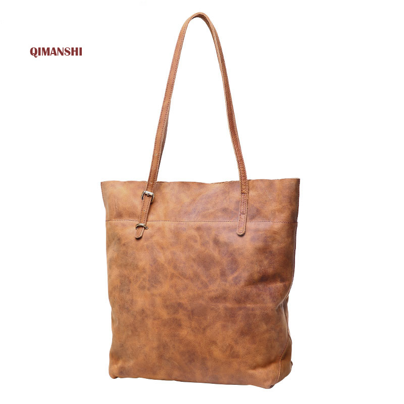 ФОТО Top Quality REAL LEATHER Handbag 2017  Casual Women's Tote Fashion Famous Brand Large Capacity Vintage Shoulder Messenger Bag