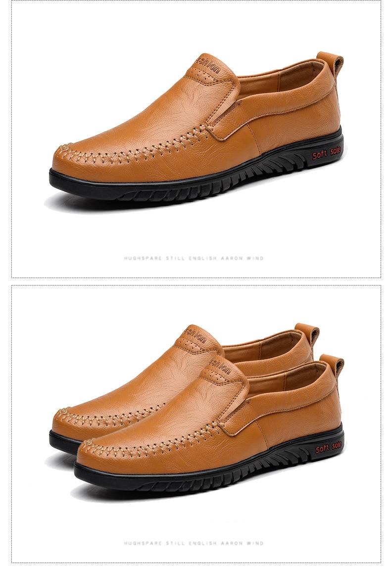 HTB1287mX42rK1RkSnhJq6ykdpXab DEKABR Men Shoes Genuine leather Comfortable Men Casual Shoes Footwear Chaussures Flats Men Slip On Lazy Shoes Zapatos Hombre