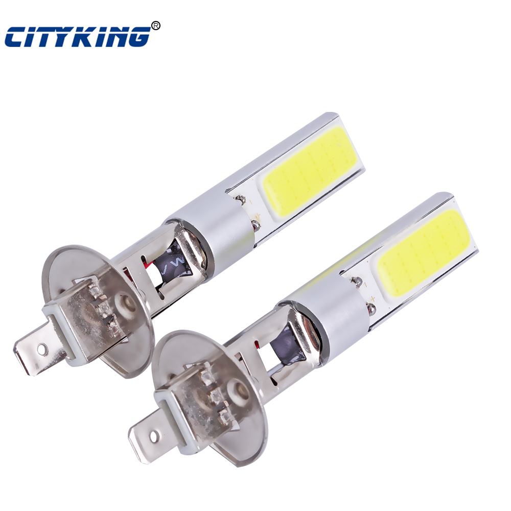 2 шт. Новое поступление h1 COB светодиодный Авто 20 Вт H1 светодиодный белый светильник светодиодный h1/h3/880/881 светодиодный фары Противотуманные фары для автомобиля-Стайлинг