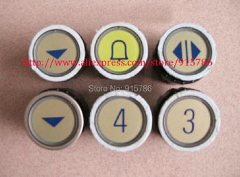 Darmowa wysyłka przyciski windy przycisk radiowy typu D przyciski windy w kształcie litery M okrągłe tanie i dobre opinie Części winda Round Button