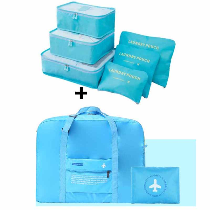 IUX Travel Handbags Men and Women Luggage Travel Bags Packing Cubes Organizer Nylon Folding Bag Bags Luggage Folding Bag