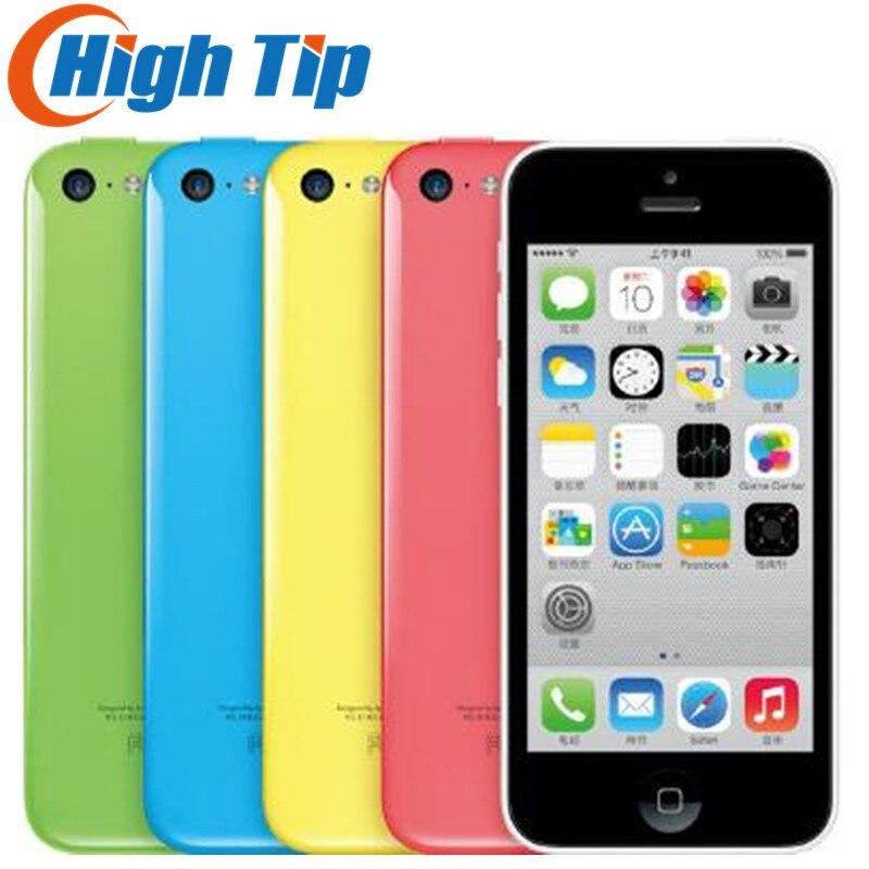 Débloqué Original Apple iphone 5C téléphone 8MP Caméra 16 gb 32 gb ROM IOS 8 4.0 Wifi GPS WCDMA 3g Livraison Gratuite Utilisé 1 année garantie
