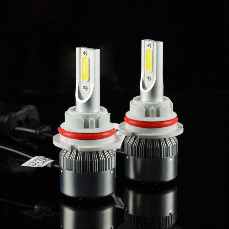 C6 LED COB 9004 Salut/Lo 72 w 7600LM LED Phare 36 w 3800LM H1 H3 H4 H7 H8 h9 H11 9005 9006 9007 Voiture LED Ampoule de Phare