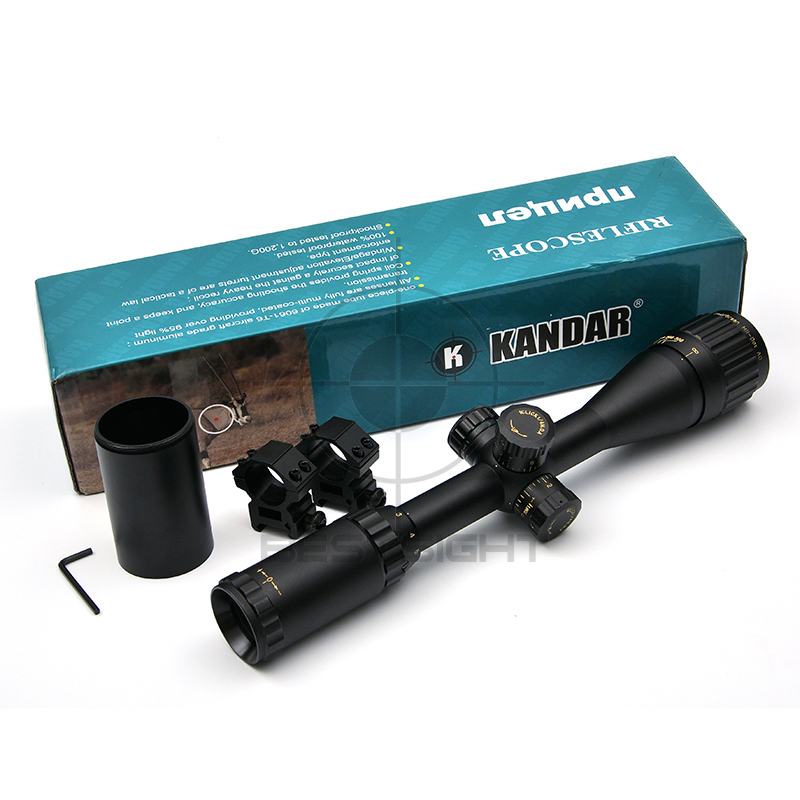 KANDAR 3-9X40 Golden Marking Tactical Optical Riflescope Red Green Dot Sight Scope Airsoft Hunting Scopes Rifle