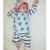 Ropa de Bebé recién nacido Conjunto Bebé Niño Ropa De Navidad 3 unids Tshirt + Pants + Sombreros del Bebé Del Muchacho de los Sistemas de Acción de gracias Equipo del bebé