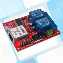 2 vías Ethernet Controlador de relé de Retardo de relé Con 6 conmutador de Red de entrada digital