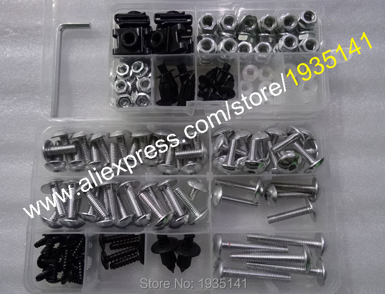 Hot Sales,Universal Fairing Bolts Kit,Motorbike Modified Screw Body Fastener Clips Screw ...