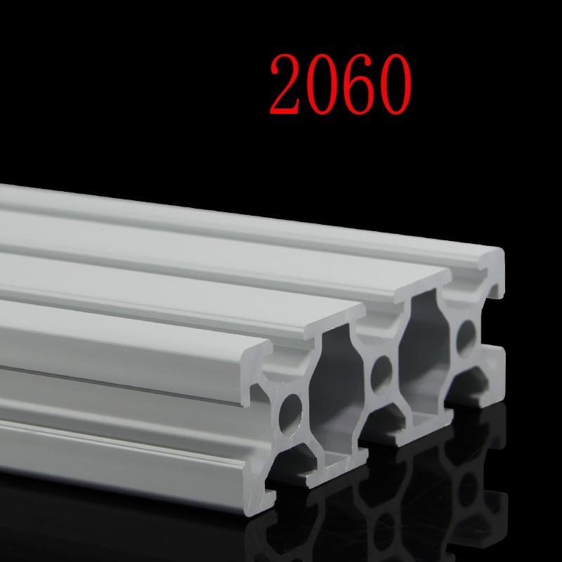 1pcs 2060 Aluminum Profile 2060 Extrusion European Standard Anodized Linear Rail Aluminum Profile 2060 CNC 3D Printer Parts