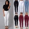 Las mujeres de Moda Casual de Alta Cintura del Estiramiento Flaco Delgado Pantalones Lápiz Pantalones Mujer Pantalones Elásticos Más Tamaño Empuja Hacia Arriba leggins