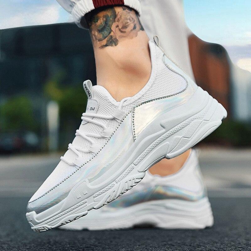 À Peu Mesh Chaussures blanc Pour Vulcaniser Profonde Hiver Sneakers Bling Garçons Nouveauté Étudiants attaché Plate Hommes forme Noir Plat Coudre Croix Air xw6P4qP