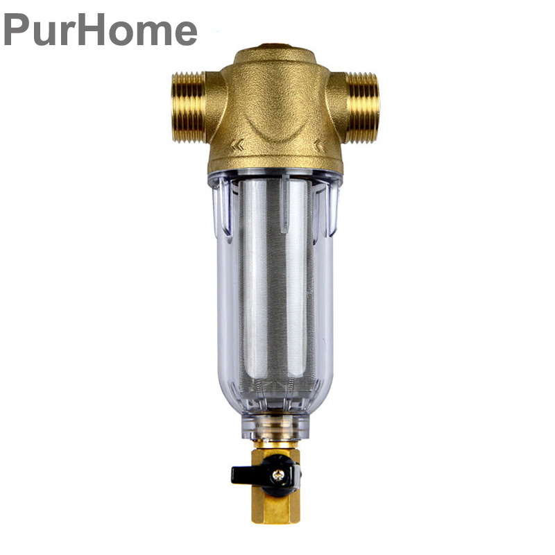 цена на 1/2 Inch 3/4 Inch Copper Port Cleaner Pre-Filter Household Whole Health House Filter Pipes Central Water Purifier Descaling